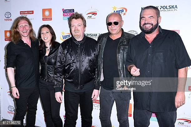 Alphaville attends the Roztanczony Narodowy concert on September 24 2016 at PGE Narodowy in Warsaw Poland It is one of the biggest events for disco...