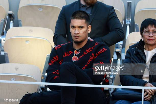 Alphonse Areola attends the 2019 French Tennis Open Day Three at Roland Garros on May 28 2019 in Paris France