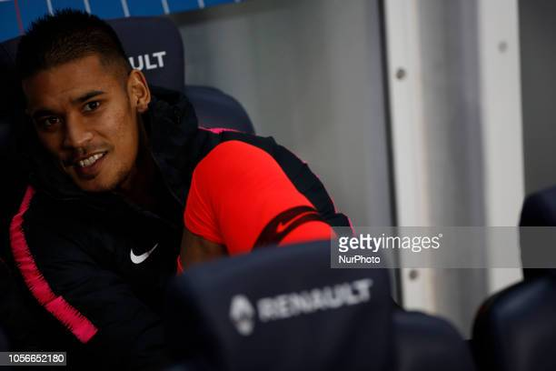 Alphonse Areola attends the soccer match game between PSG and Lille at the Parc de Prince in Paris France On November 2 2018