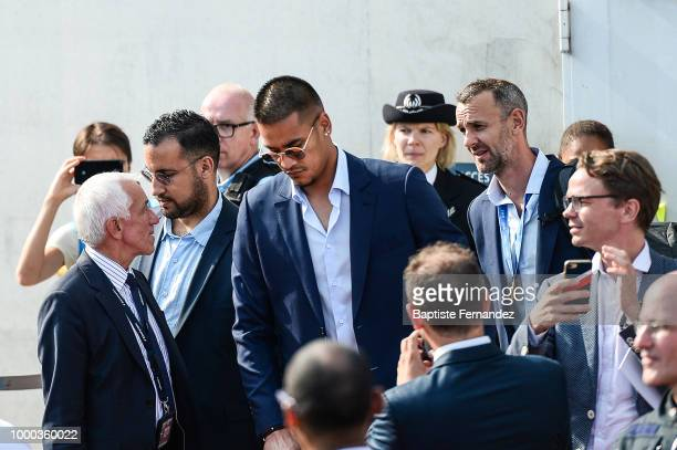 Alphonse Areola of France during the arrival at Airport Roissy Charles de Gaulle on July 16 2018 in Paris France