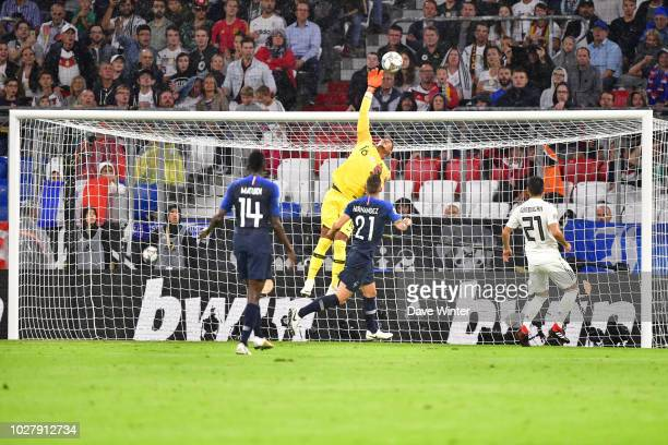 Alphonse Areola of France during the Nations League match between Germany and France at Allianz Arena on September 6 2018 in Munich Germany