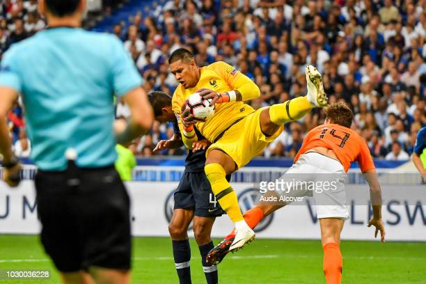 Alphonse Areola of France during the Nations League match between France and Netherlands at Stade de France on September 9 2018 in Paris France