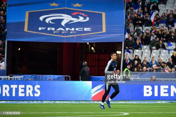 Alphonse Areola of France during the Qualifying European Championship 2020 match between France and Iceland at Stade de France on March 25 2019 in...