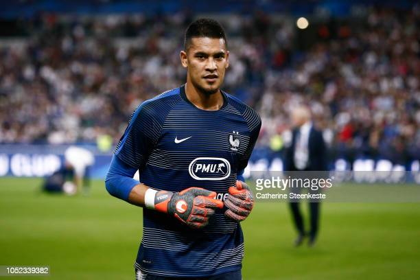 Alphonse Areola of France looks on before the UEFA Nations League A group one match between France and Germany at Stade de France on October 16 2018...