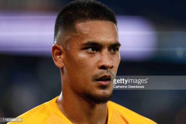 Alphonse Areola of Paris SaintGermain looks on after the Ligue 1 match between Paris SaintGermain and Toulouse FC at Parc des Princes on August 25...