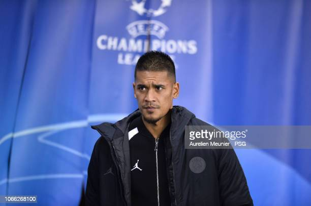 Alphonse Areola of Paris SaintGermain reacts before the Group C match of the UEFA Champions League between Paris SaintGermain and Liverpool at Parc...