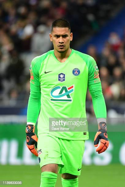 Alphonse Areola of PSG during the French Cup Final between Rennes and Paris Saint Germain at Stade de France on April 27 2019 in Paris France