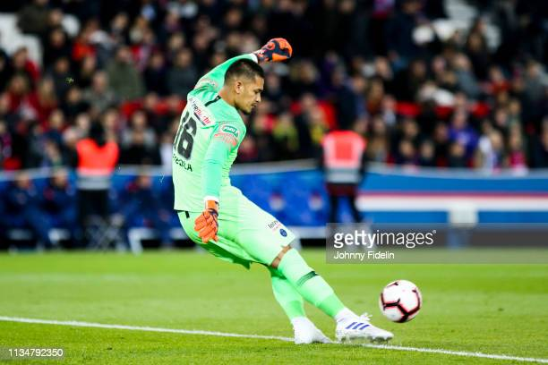 Alphonse Areola of PSG during the French Cup match between Paris Saint Germain and Nantes at Parc des Princes on April 3 2019 in Paris France
