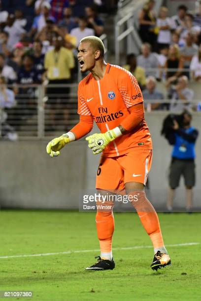 Alphonse Areola of PSG during the International Champions Cup match between Paris Saint Germain and Tottenham Hotspur on July 22 2017 in Orlando...