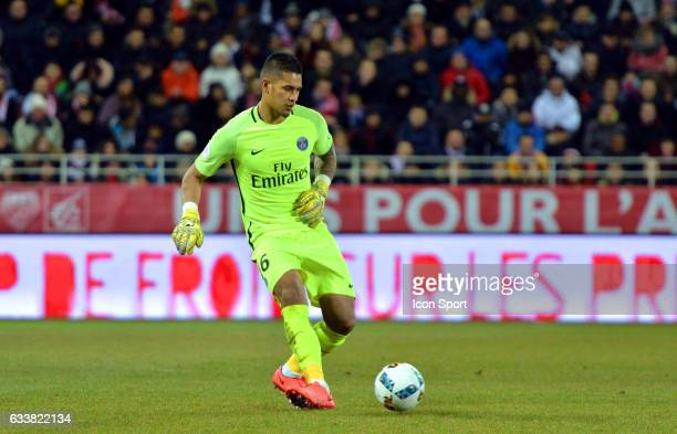 Alphonse Areola of PSG during the Ligue 1 match between Dijon DCO and Paris Saint Germain at Stade Gaston Gerard on February 4 2017 in Dijon France