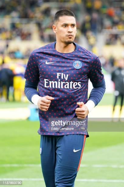 Alphonse Areola of PSG during the Ligue 1 match between Nantes and Paris Saint Germain at Stade de la Beaujoire on April 17 2019 in Nantes France