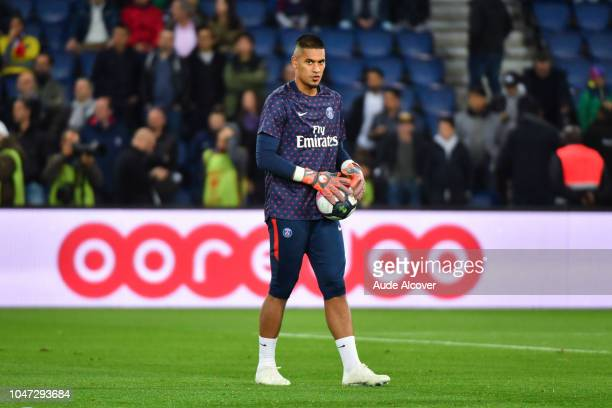 Alphonse Areola of Psg during the Ligue 1 match between Paris Saint Germain and Lyon at Parc des Princes on October 7 2018 in Paris France