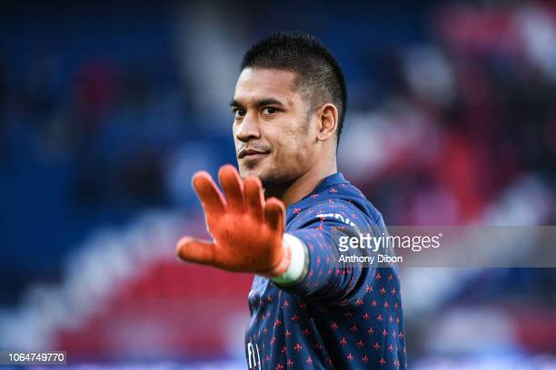 Alphonse Areola of PSG during the Ligue 1 match between Paris Saint Germain and Toulouse at Parc des Princes on November 24 2018 in Paris France