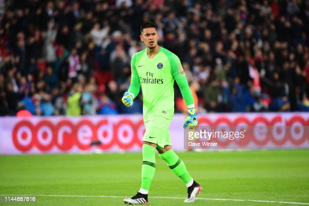 Alphonse Areola of PSG during the Ligue 1 match between Paris Saint Germain and Dijon at Parc des Princes on May 18 2019 in Paris France