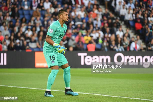 Alphonse Areola of PSG during the Ligue 1 match between Paris Saint Germain and Nimes at Parc des Princes on August 11 2019 in Paris France