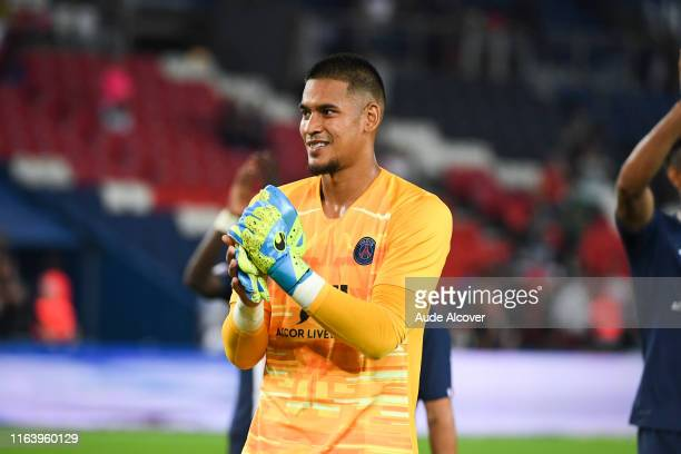 Alphonse Areola of Psg during the Ligue 1 match between Paris Saint Germain and Toulouse on August 25 2019 in Paris France