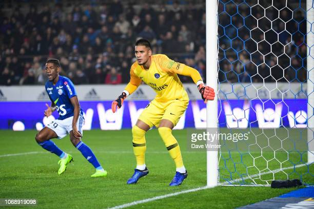 Alphonse Areola of PSG during the Ligue 1 match between RC Strasbourg and Paris Saint Germain on December 5 2018 in Strasbourg France