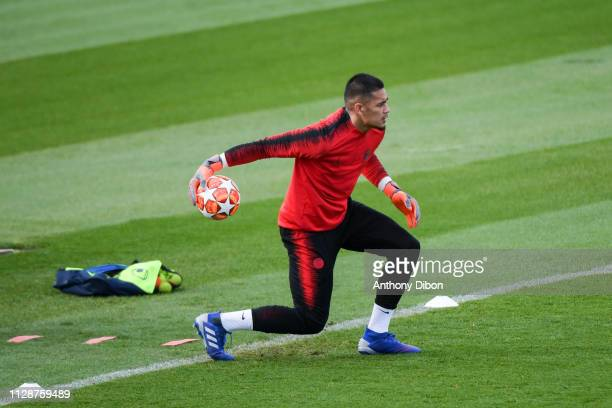 Alphonse Areola of PSG during the training session of Paris Saint Germain on March 5 2019 in Paris France