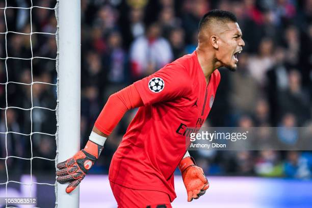 Alphonse Areola of PSG during the UEFA Champions League football match between Paris Saint Germain and SSC Naples on October 24 2018 in Paris France