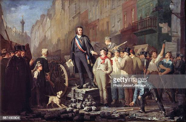 Alphonse Baudin on the barricade of Faubourg Saint Antoine 3 December 1851 After the coup d'etat of 2 december 1851 and the dissolution of the...