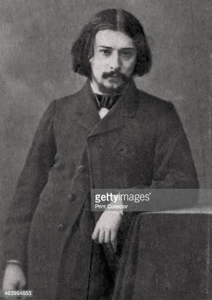 Alphonse Daudet French novelist 1869 A photograph from Album de Photographies dans L'Intimite de Personnages Illustres 18501900 2nd album Editions MD...
