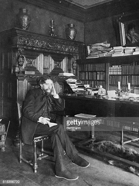 Alphonse Daudet French novelist in his studio