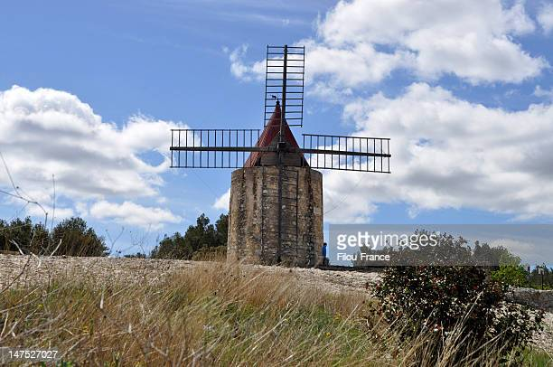 alphonse daudet windmill - traditional windmill stock photos and pictures
