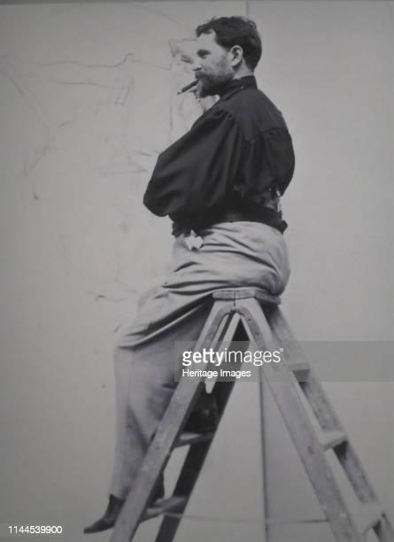 Alphonse Mucha , 1896. Artist Anonymous.