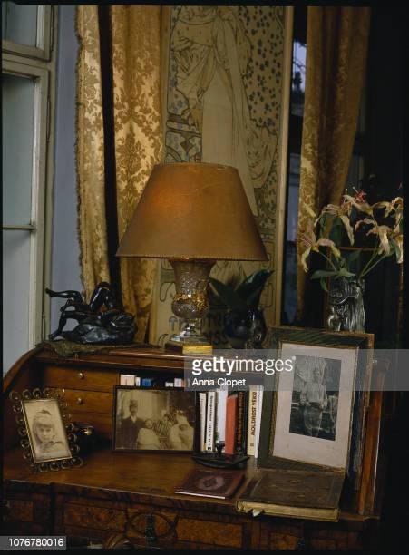Alphonse Mucha's Desk with Photographs