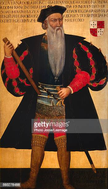 Alphonse of Albuquerque known as Albuquerque the Great Portrait of the Portuguese navigator and explorer Painting of the 16th century National Museum...