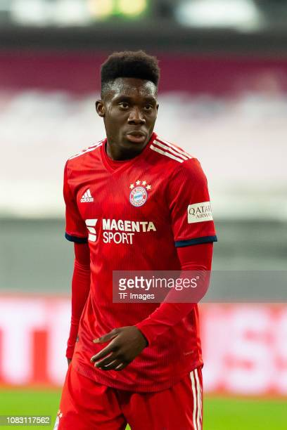 Alphonso Davies of Bayern Muenchen looks on during the Telekom Cup 2019 Final between FC Bayern Muenchen and Borussia Moenchengladbach at Merkur...