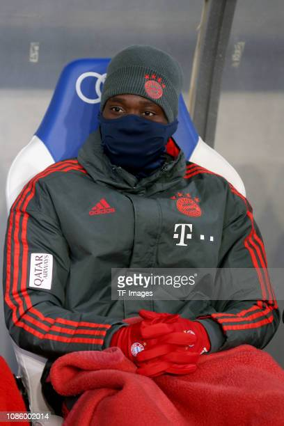 Alphonso Davies of FC Bayern Muenchen looks on during the Bundesliga match between TSG 1899 Hoffenheim and FC Bayern Muenchen at PreZeroArena on...