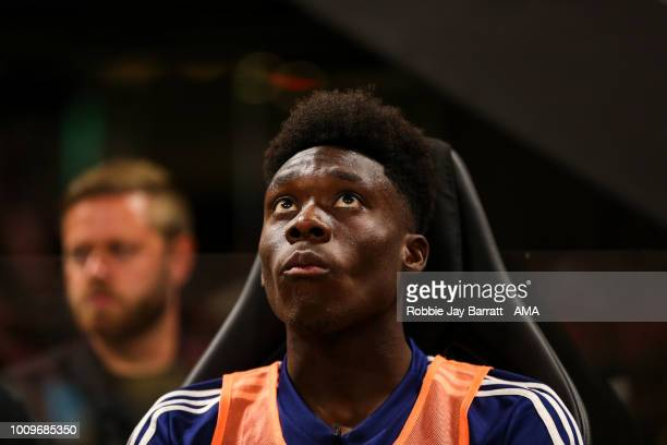 Alphonso Davies of MLS All Stars during the 2018 MLS AllStars game between Juventus v MLS AllStars at MercedesBenz Stadium on August 1 2018 in...