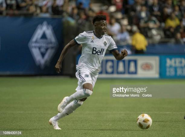 Alphonso Davies of the Vancouver Whitecaps at BC Place on September 15 2018 in Vancouver Canada
