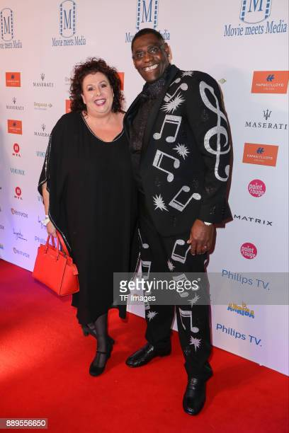 Alphonso Williams and his companion attend the Movie Meets Media event 2017 at Hotel Atlantic Kempinski on November 27 2017 in Hamburg Germany