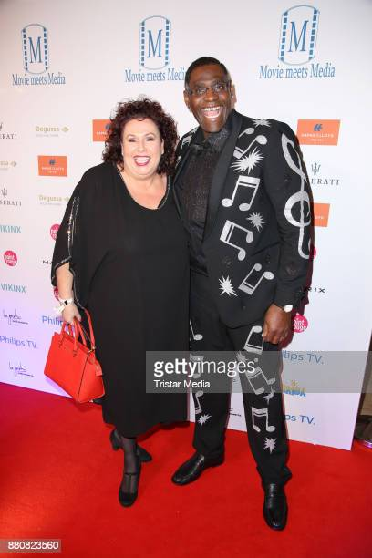 Alphonso Williams and his wife Manuela Williams attend the Movie Meets Media event 2017 at Hotel Atlantic Kempinski on November 27 2017 in Hamburg...