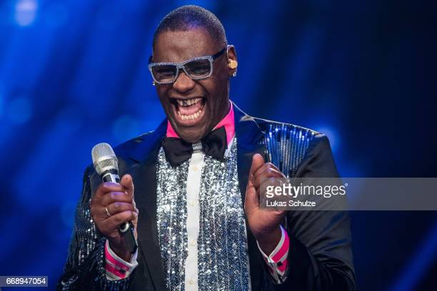 Alphonso Williams performs during the second event show of the tv competition 'Deutschland sucht den Superstar' at Coloneum on April 15 2017 in...