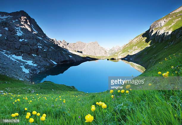 alpin lake gufelsee in tirol - austria - lech stock pictures, royalty-free photos & images