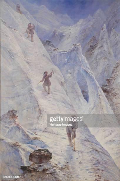 Alpine Climbers, 1869. Artist Elijah Walton. .