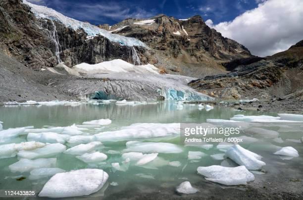 alpine deglaciation - gletscher stock-fotos und bilder
