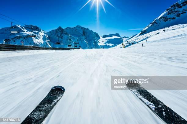 POV der alpinen Abfahrtslauf