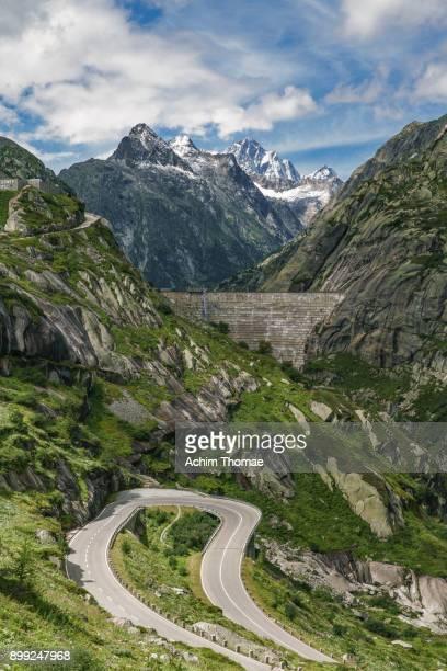 Alpine Grimsel Pass Road, Swiss Alps, Switzerland, Europe