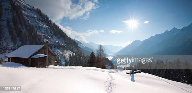 alpine hut in tirol, austria