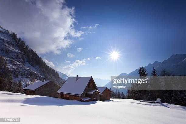 alpine hut dans le Tyrol, Autriche