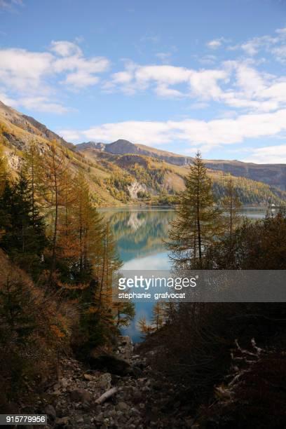 Alpine lake and mountains, Switzerland