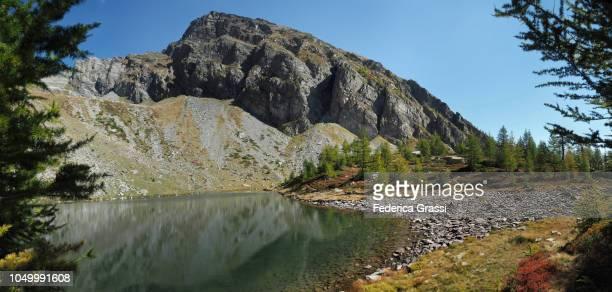 Alpine Lake Lago di Agro And Mt. Costa del Dosso in The High Bognanco Valley