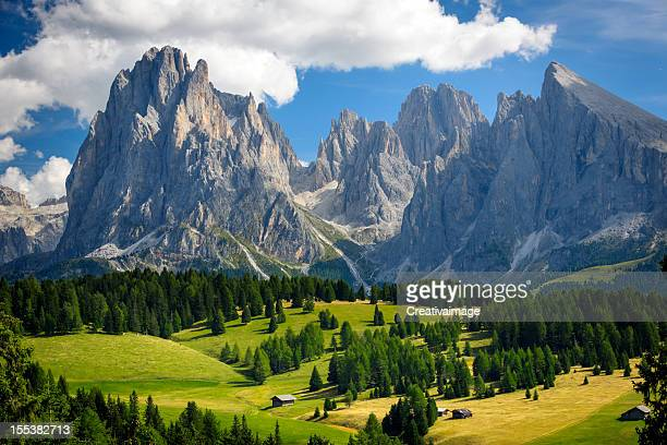 alpine landscape xxxl - dolomites stock pictures, royalty-free photos & images