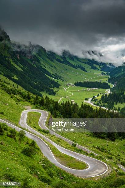 Alpine Mountain Road Klausenpass, Switzerland