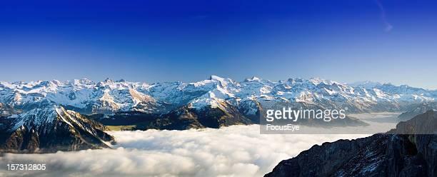 alpine panorama - alpes do sul da nova zelândia - fotografias e filmes do acervo