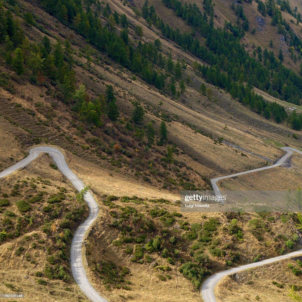 Alpine road : Stock Photo